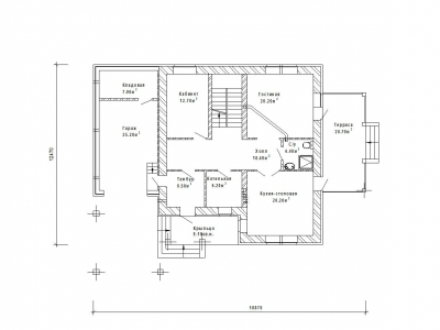 Готовый проект загородного дома К-210