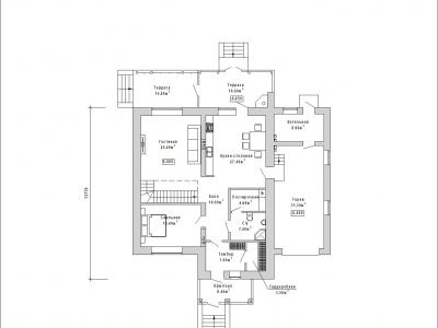Готовый проект загородного дома К-247