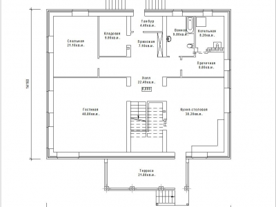 Готовый проект загородного дома К-362