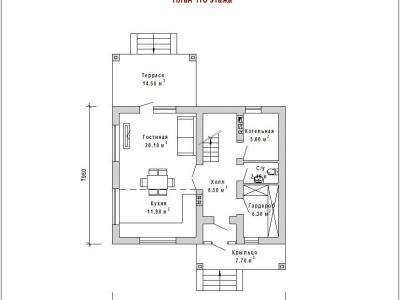 Готовый проект загородного дома Гс-106а