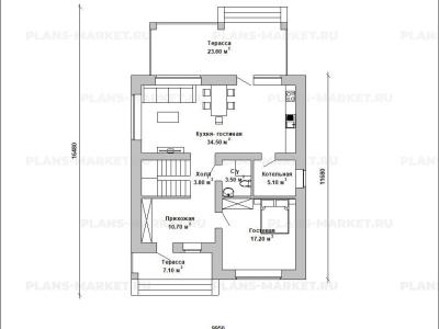 Готовый проект загородного дома К-136