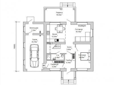 Готовый проект загородного дома К-170-1