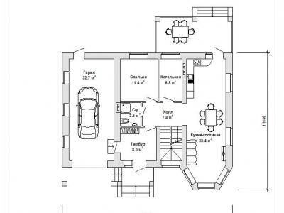 Готовый проект загородного дома Гс-175