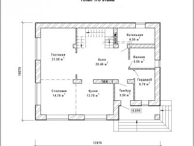 Готовый проект загородного дома К-187-1