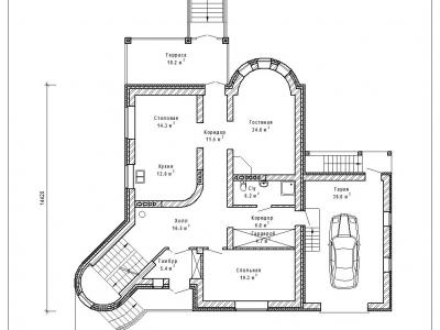 Готовый проект загородного дома К-401