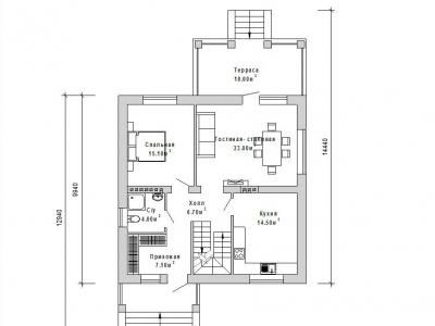 Готовый проект загородного дома К-143а