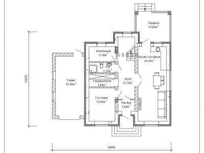 Готовый проект загородного дома Гс-163-1а