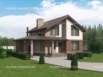 Готовый проект загородного дома Гс-128