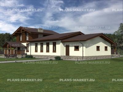 Готовый проект загородного дома Гс-210