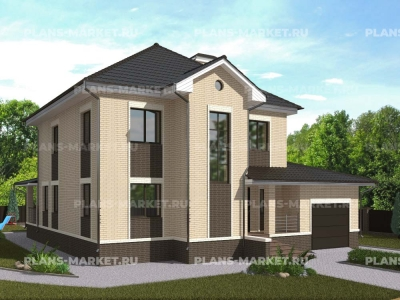 Готовый проект загородного дома К-215а