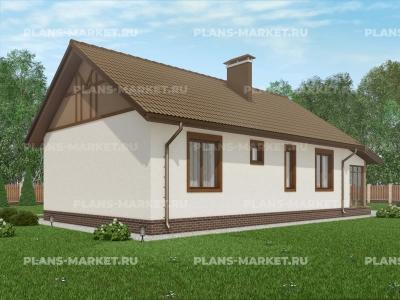 Готовый проект загородного дома Гс-82
