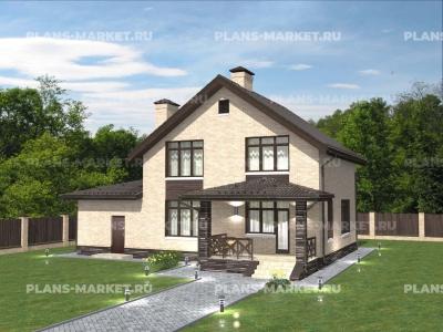 Готовый проект загородного дома Гс-160-2