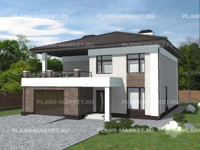 Готовый проект загородного дома Гс-229