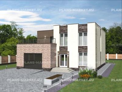 Готовый проект загородного дома Гс-214