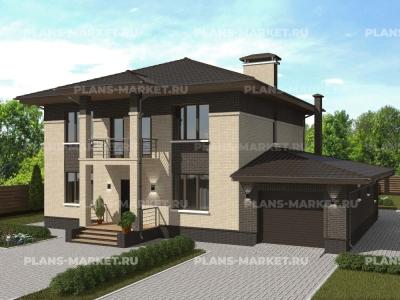 Готовый проект загородного дома К-182