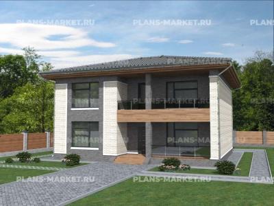 Готовый проект загородного дома Гс-178-1