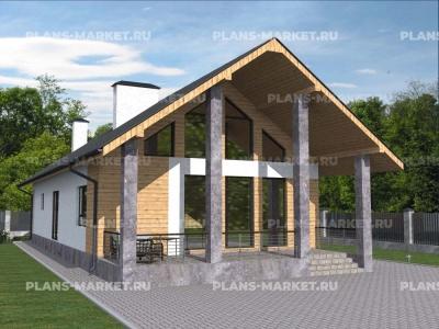 Готовый проект загородного дома Гс-141-1