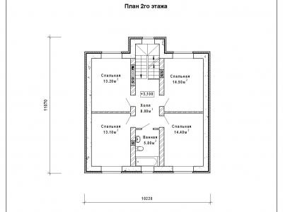 Готовый проект загородного дома Гс-163б