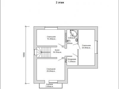 Готовый проект загородного дома Гс-162