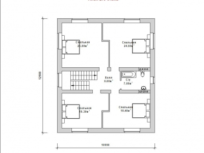 Готовый проект загородного дома ГС-207