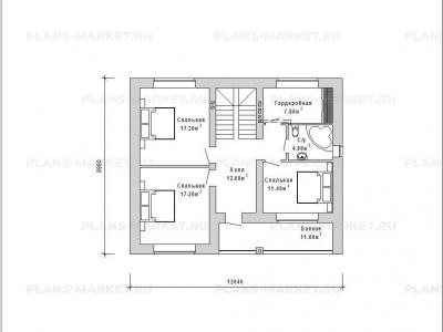 Готовый проект загородного дома Гс-146-1