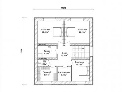 Готовый проект загородного дома К-271