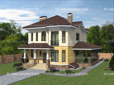 Готовый проект загородного дома К-246