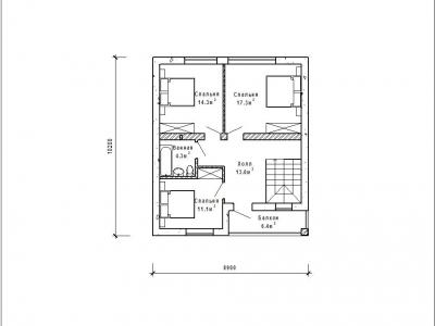 Готовый проект загородного дома Гс-118а