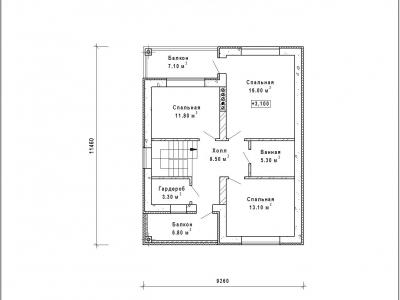 Готовый проект загородного дома Гс-177