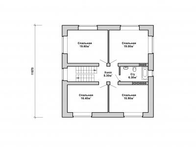 Готовый проект загородного дома К-167