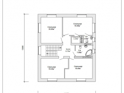 Готовый проект загородного дома Гс-207а