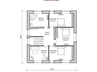 Готовый проект загородного дома К-257