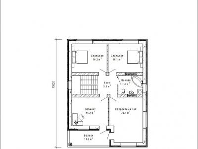 Готовый проект загородного дома Гс-184