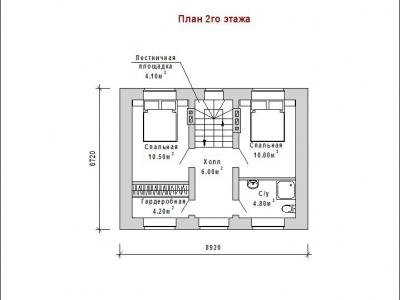 Готовый проект загородного дома Гс-71а