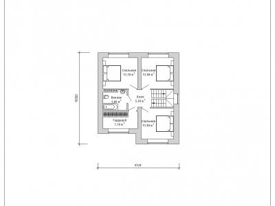 Готовый проект загородного дома Гс-114-1