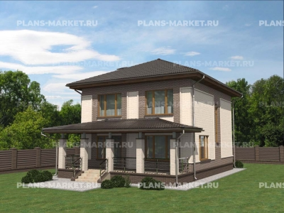 Готовый проект загородного дома К-130