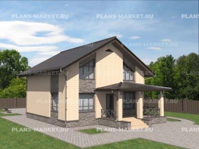 Готовый проект загородного дома К-136а