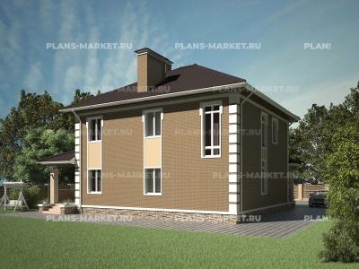 Готовый проект загородного дома Гс-166