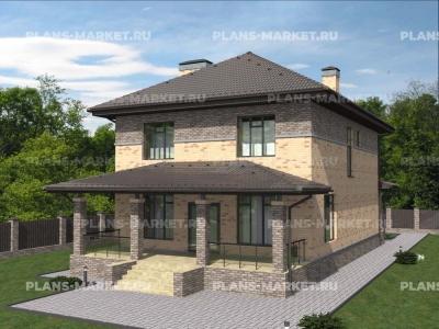 Готовый проект загородного дома К-180