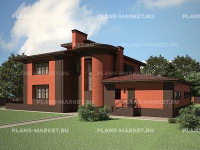 Готовый проект загородного дома К-432