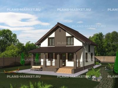 Готовый проект загородного дома К-107