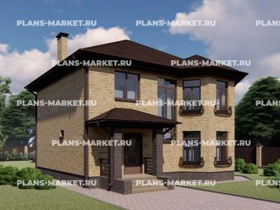 Готовый проект загородного дома К-140