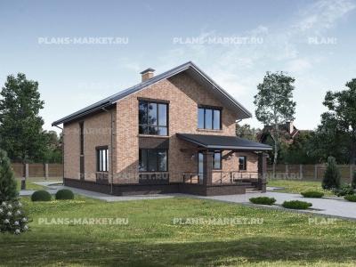 Готовый проект загородного дома Гс-164б