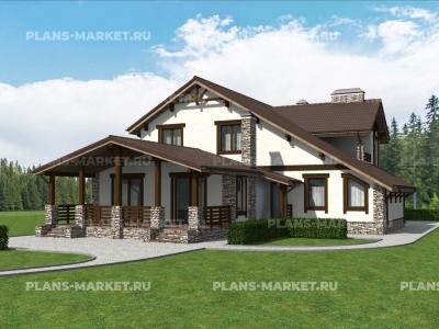 Готовый проект загородного дома Гс-286