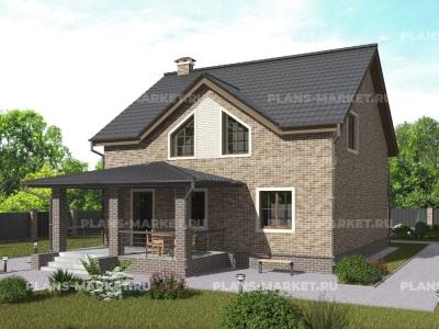 Готовый проект загородного дома Гс-152