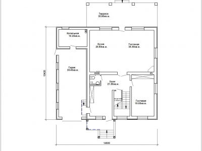 Готовый проект загородного дома К-250а