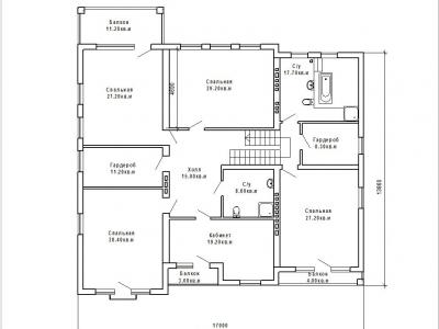Готовый проект загородного дома К-380