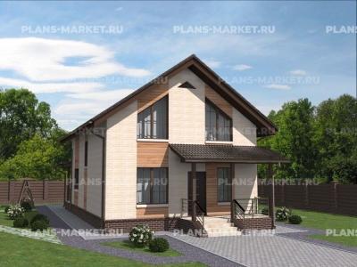 Готовый проект загородного дома Гс-126а