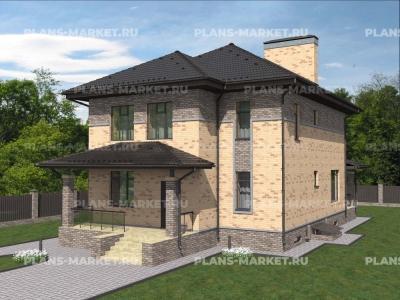 Готовый проект загородного дома К-180а