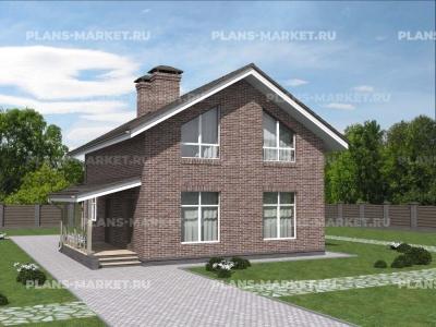 Готовый проект загородного дома К-148-3